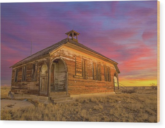Aroya Sunrise Wood Print