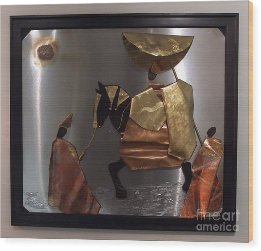 arrival of the Oba Wood Print by Jeff  Williams