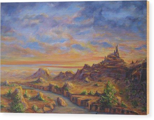 Arroyo Sunset Wood Print by Thomas Restifo