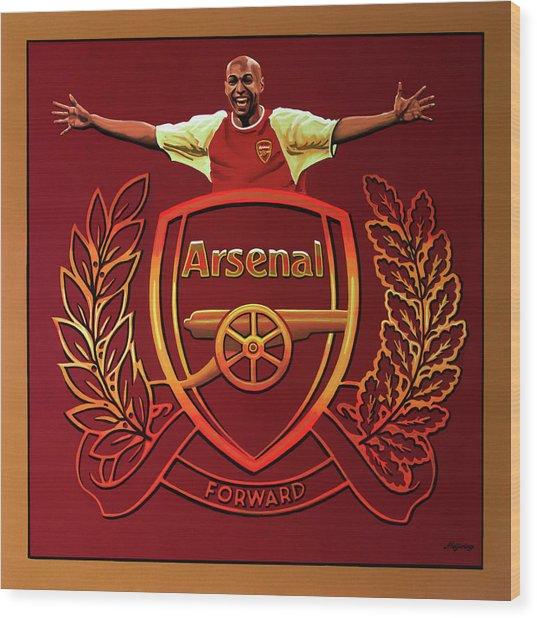 Arsenal London Painting Wood Print
