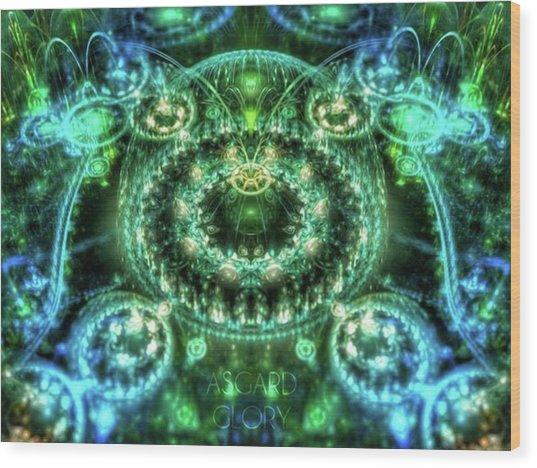 #art #abstract #digitalart #dreamy Wood Print by Michal Dunaj