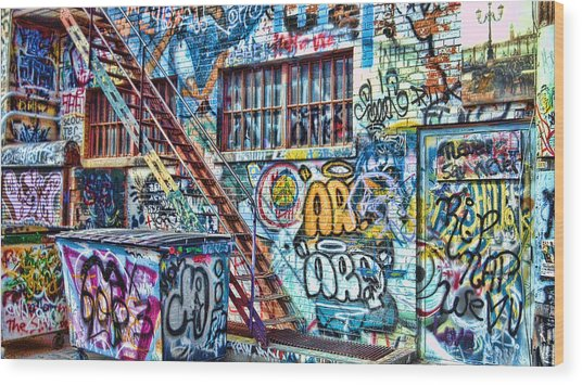 Art Alley 2 Wood Print
