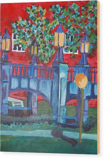 Art Bridge - University Of Iowa Wood Print by Jame Hayes