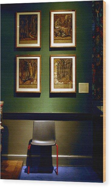 Art Chair Wood Print by Jez C Self