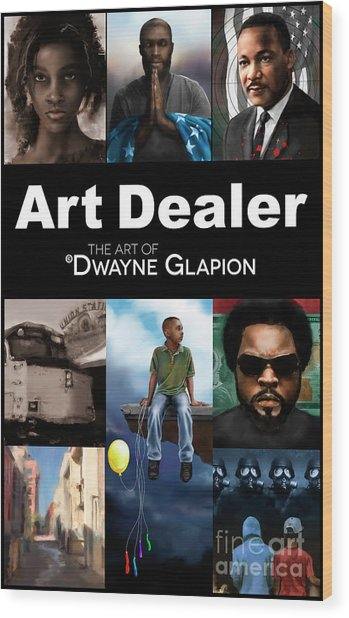Art Dealer Promo 1 Wood Print