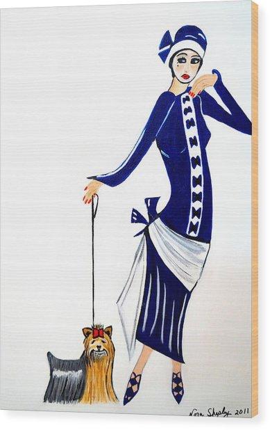 Art Deco  Diane 1920's Wood Print