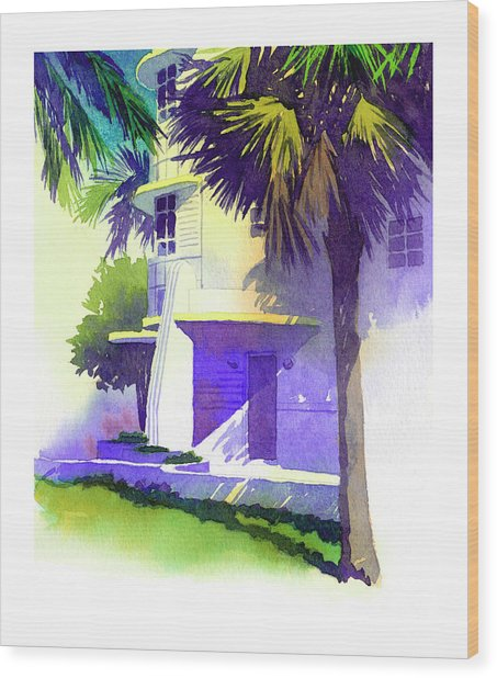 Art Deco Hotel Miami Wood Print