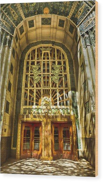 Art Deco Marine Building Wood Print