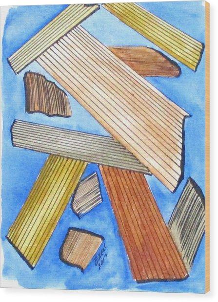 Art Doodle No. 24 Wood Print
