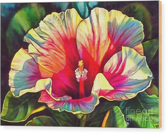 Art Floral Interior Design On Canvas Wood Print