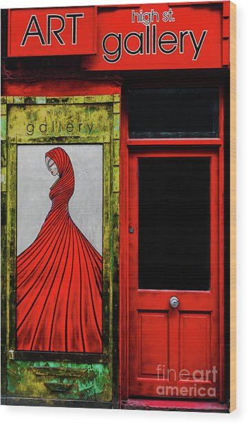 Art Gallery Shop Front Wood Print