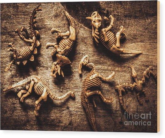Art In Palaeontology Wood Print