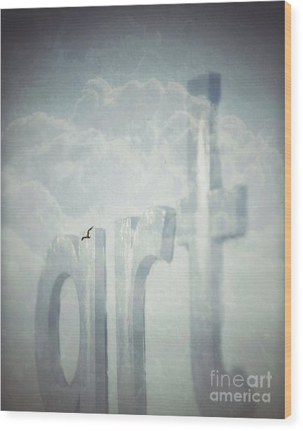 Art In The Clouds Wood Print