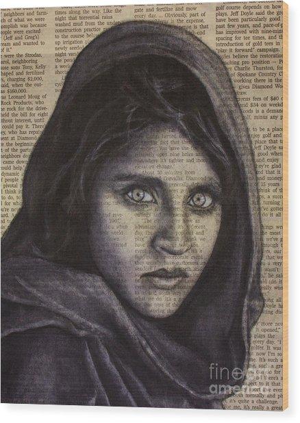 Art In The News 64-afghan Girl Wood Print