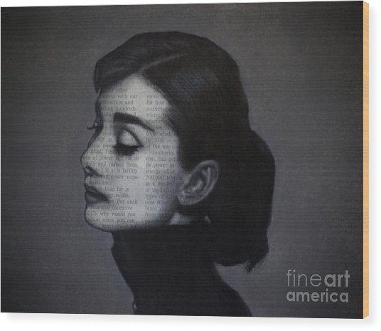 Art In The News 98-audrey Hepburn Wood Print