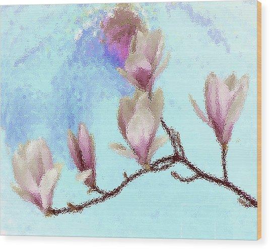 Art Magnolia Wood Print