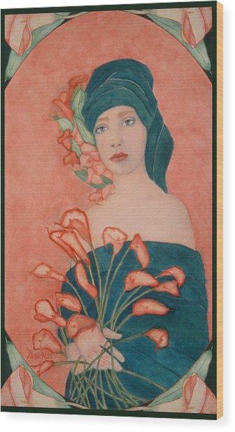 Art Nouveau Calas Wood Print