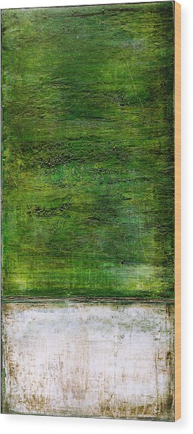 Art Print Green White Wood Print