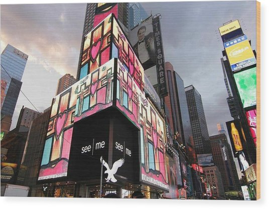 Art Takes Times Square Wood Print
