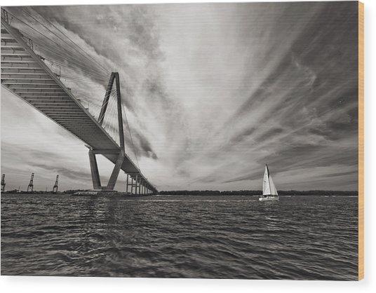 Arthur Ravenel Jr. Bridge Over The Cooper River Wood Print