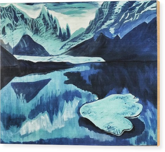 Artic Blue  Wood Print