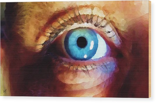 Wood Print featuring the digital art Artist Eye View by Shelli Fitzpatrick