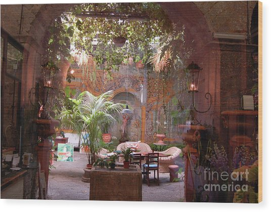 Artists' Studio In Sorrento Italy  Wood Print