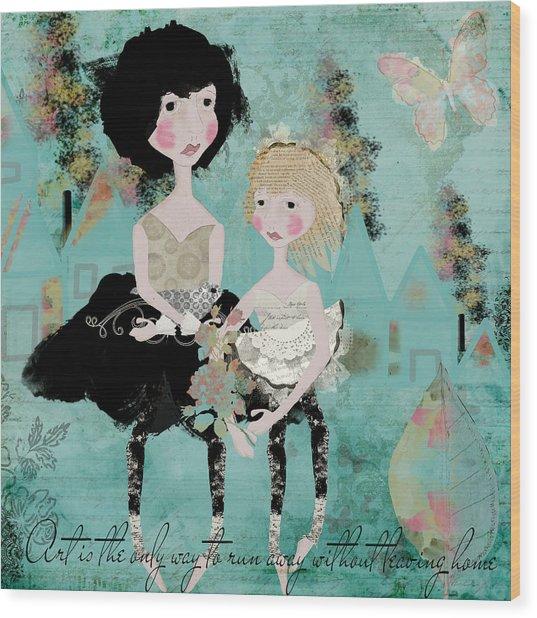 Artsy Girls Wood Print