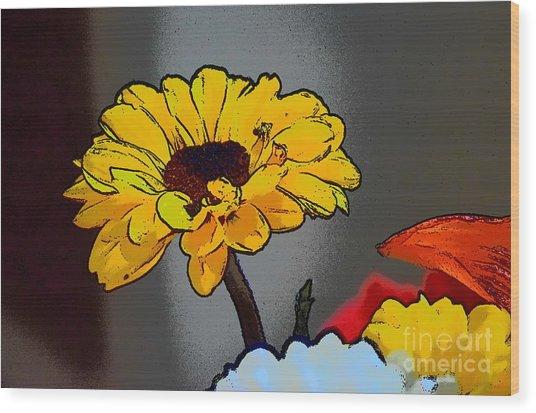 Artsy Sunshine Wood Print