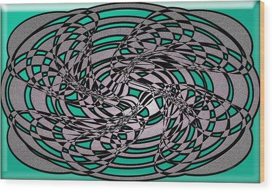 Artwork 116 Wood Print by Evelyn Patrick