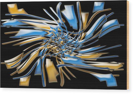 Artwork112 Wood Print by Evelyn Patrick