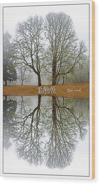 As Above So Below Iv Wood Print