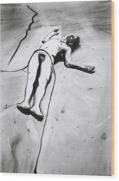 Ascension Wood Print by Cathy Jourdan