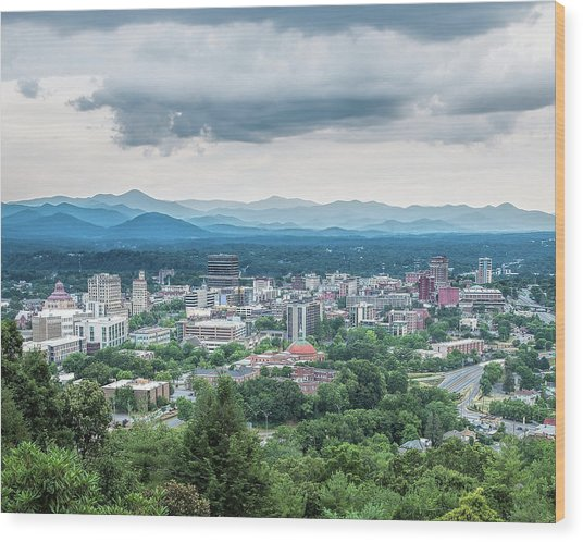 Asheville Afternoon Cropped Wood Print