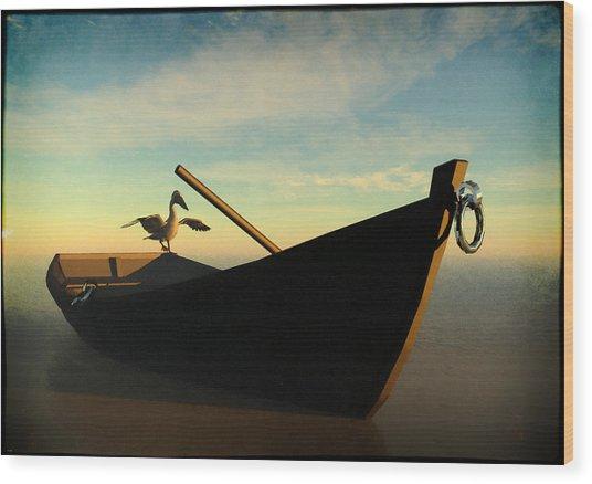 Ashore... Wood Print