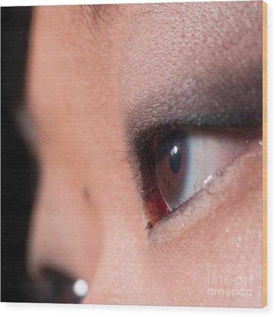 Asian Girl Eyes 1283053 Wood Print