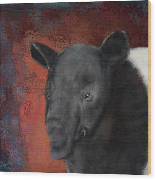 Asian Tapir Wood Print