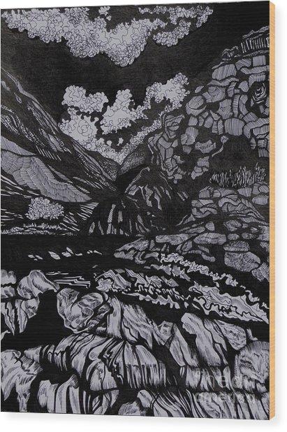 Asia.tension Wood Print by Anna  Duyunova