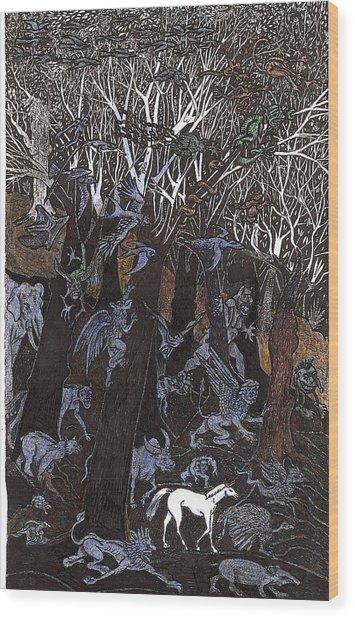 Asil In Shitaki Forest Wood Print