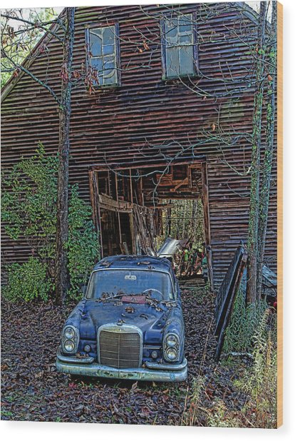 Asleep At The Wheel Wood Print