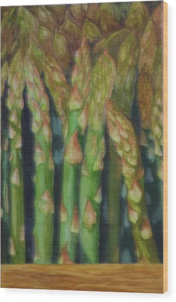 Asparagus From The Farmers Market. Wood Print by Jan  Spangler