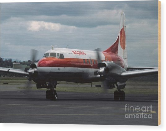 Aspen Convair 580 Wood Print