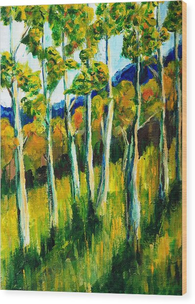 Aspen Highlands Wood Print by Randy Sprout