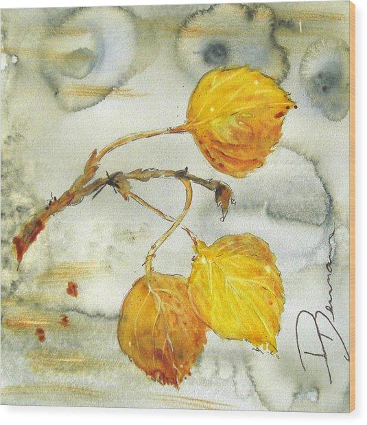 Aspen Leaves Wood Print