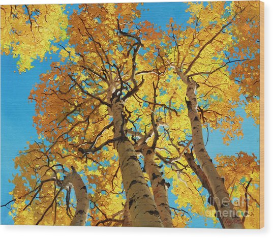 Aspen Sky High 2 Wood Print