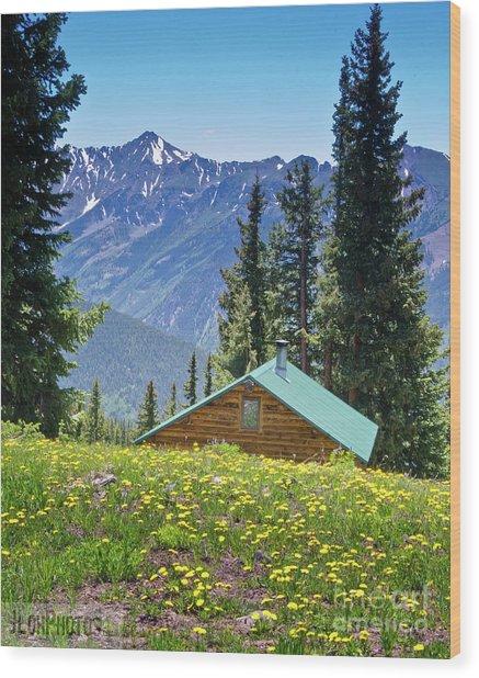 Aspen Spring Wood Print