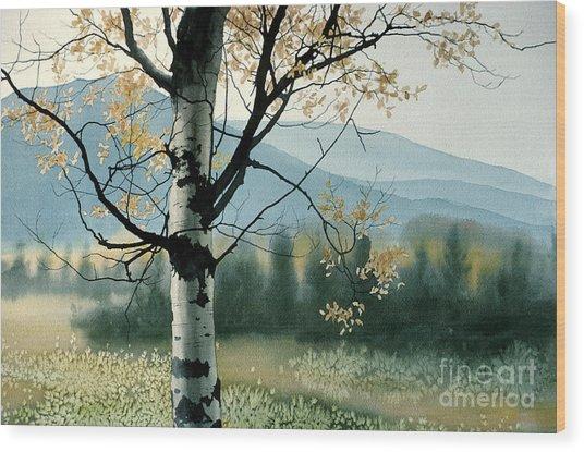Aspen Valley Wood Print