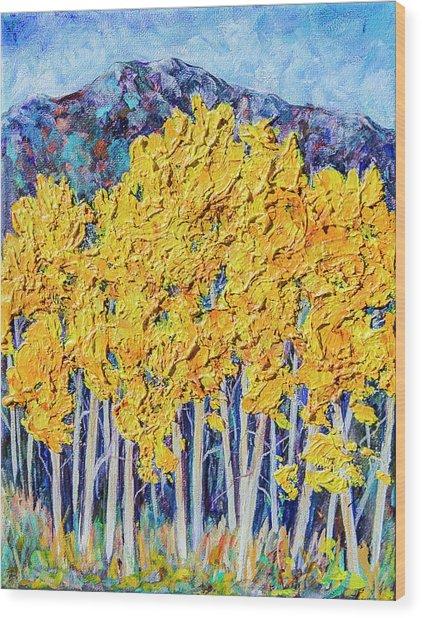 Aspens #4 Wood Print