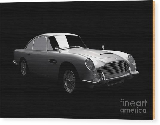Aston Martin Db5 Wood Print
