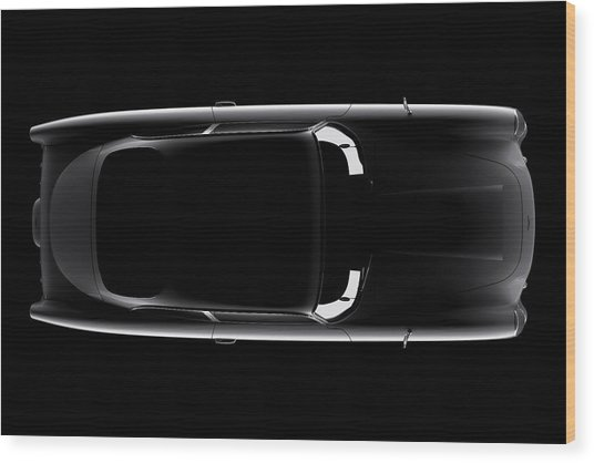 Aston Martin Db5 - Top View Wood Print